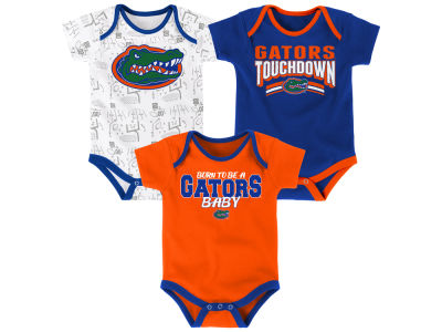 Florida Gators Outerstuff NCAA Newborn Playermaker 3 Piece Creeper Set