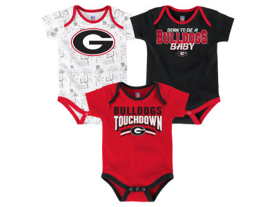 Georgia Bulldogs Outerstuff NCAA Newborn Playermaker 3 Piece Creeper Set