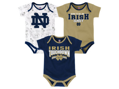Notre Dame Fighting Irish Outerstuff NCAA Newborn Playermaker 3 Piece Creeper Set