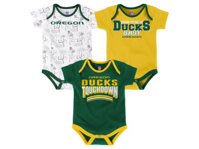Oregon Ducks Outerstuff NCAA Newborn Playermaker 3 Piece Creeper Set