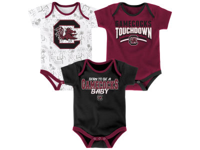 South Carolina Gamecocks Outerstuff NCAA Newborn Playermaker 3 Piece Creeper Set