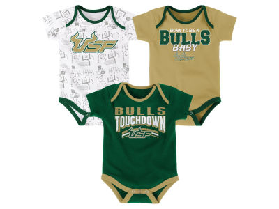 South Florida Bulls Outerstuff NCAA Newborn Playermaker 3 Piece Creeper Set