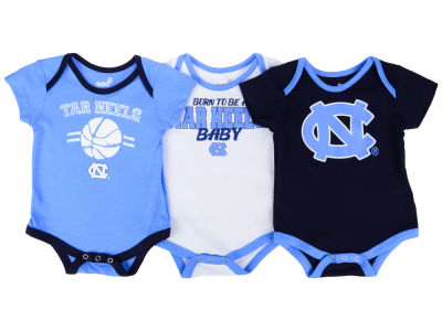 North Carolina Tar Heels Outerstuff NCAA Newborn Basketball 3 Piece Creeper Set