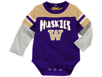 Washington Huskies Outerstuff NCAA Newborn Halfback Creeper Pant Set