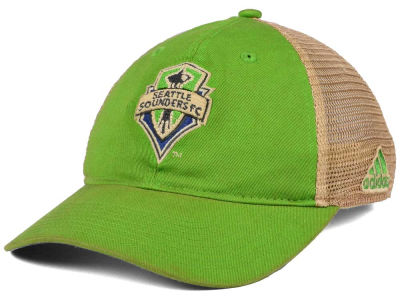 Seattle Sounders FC adidas MLS Dirty Mesh Easy Adjustable Cap