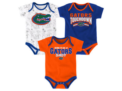 Florida Gators Outerstuff NCAA Infant Playermaker 3 Piece Creeper Set
