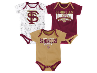Florida State Seminoles Outerstuff NCAA Infant Playermaker 3 Piece Creeper Set