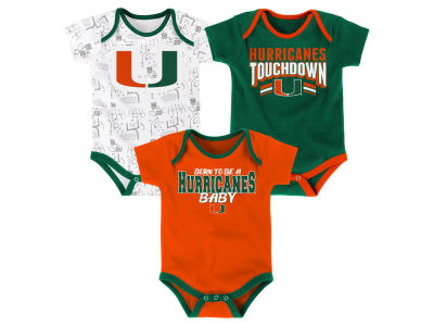 Miami Hurricanes Outerstuff NCAA Infant Playermaker 3 Piece Creeper Set