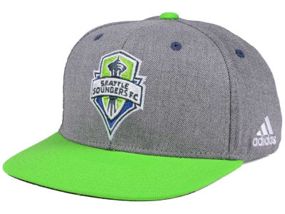 Seattle Sounders FC adidas Gray Adjustable Cap
