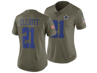 Dallas Cowboys Ezekiel Elliott Nike 2017 NFL Women's Salute To Service Jersey