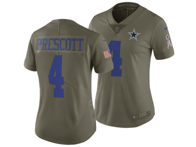 Dallas Cowboys Dak Prescott Nike 2017 NFL Women s Salute To Service Jersey 5dd94ec88