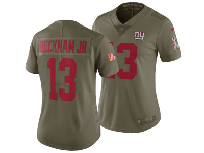 New York Giants Odell Beckham Jr. Nike 2017 NFL Women's Salute To Service Jersey