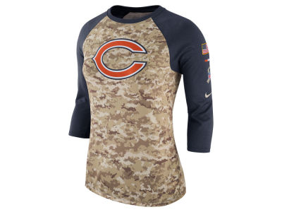 Chicago Bears Nike NFL Women's Salute To Service 3/4 Raglan T-Shirt