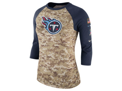 Tennessee Titans Nike NFL Women's Salute To Service 3/4 Raglan T-Shirt