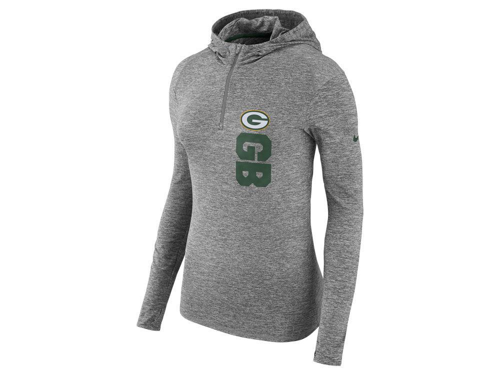 ... Green Bay Packers Nike NFL Women s Dri-Fit Element Hoodie ... a850c176f