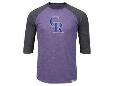 Colorado Rockies MLB Men's Big & Tall Grueling Raglan T-Shirt