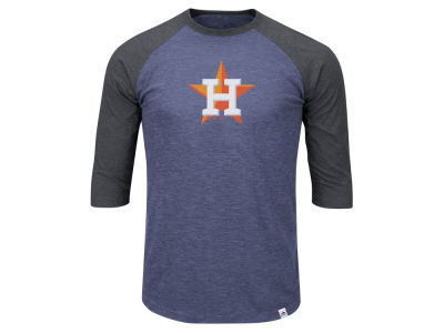 Houston Astros Majestic MLB Men's Big & Tall Grueling Raglan T-Shirt