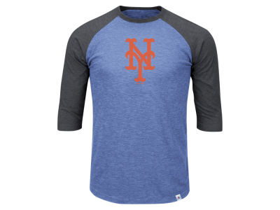 New York Mets Majestic MLB Men's Big & Tall Grueling Raglan T-Shirt