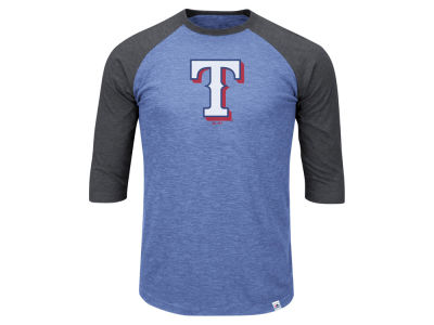 Texas Rangers MLB Men's Big & Tall Grueling Raglan T-Shirt