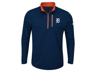 Detroit Tigers MLB Men's Big and Tall Six-Four-Three 1/2 Zip