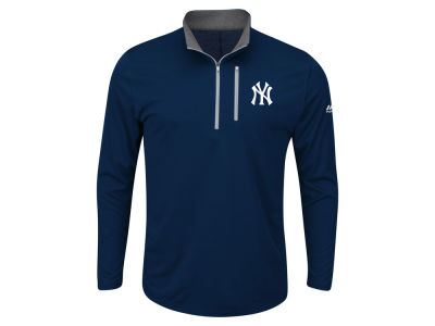 New York Yankees Majestic MLB Men's Big and Tall Six-Four-Three 1/2 Zip