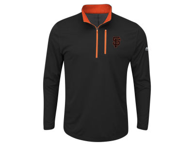 San Francisco Giants Majestic MLB Men's Big and Tall Six-Four-Three 1/2 Zip