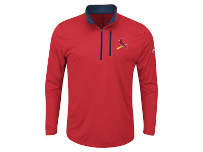 St. Louis Cardinals Majestic MLB Men's Big and Tall Six-Four-Three 1/2 Zip