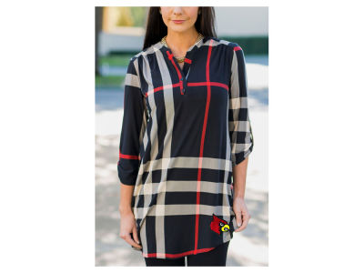 Louisville Cardinals Gameday Couture NCAA Women's  Plaid Tunic Shirt