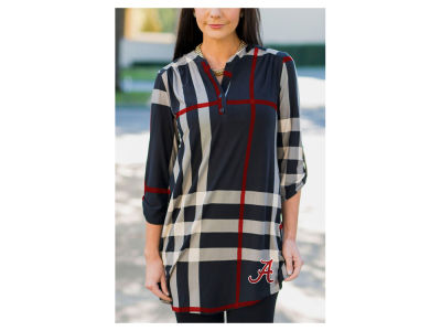 Alabama Crimson Tide Gameday Couture NCAA Women's  Plaid Tunic Shirt