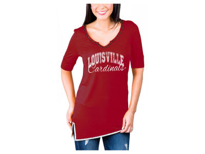 Louisville Cardinals Gameday Couture NCAA Women's Beaded Neckline T-Shirt