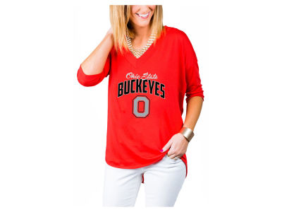 Ohio State Buckeyes Gameday Couture NCAA Women's Weekender Deep V T-Shirt