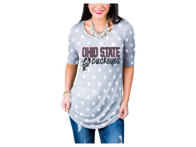 Ohio State Buckeyes Gameday Couture NCAA Women's Polka Dot T-Shirt