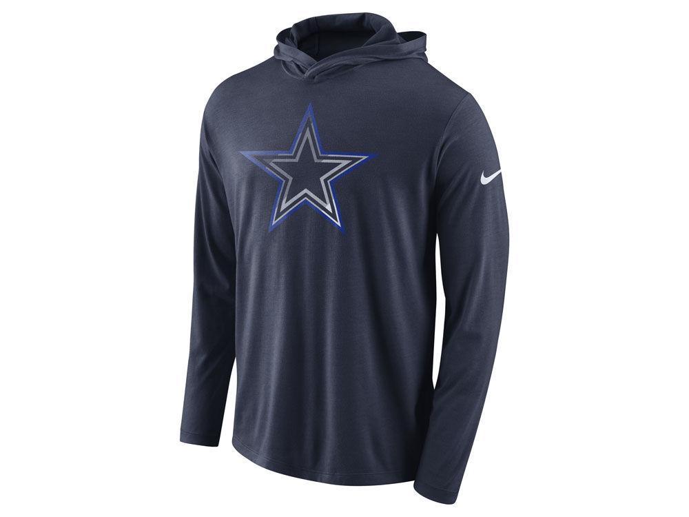 Dallas Cowboys Nike NFL Men s Blend Hooded Long Sleeve T-Shirt ... a17c4cb0c
