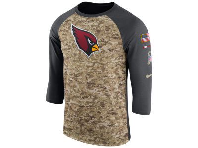 Arizona Cardinals Nike 2017 NFL Men's Salute To Service 3/4 Sleeve Raglan T-Shirt