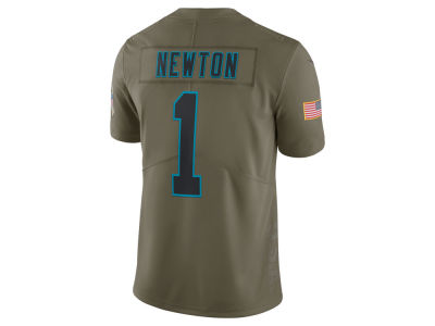 Carolina Panthers Cam Newton Nike 2017 NFL Men's Salute To Service Jersey
