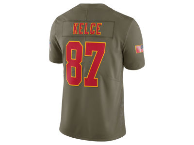 Kansas City Chiefs Travis Kelce Nike 2017 NFL Men's Salute To Service Jersey
