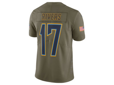 Los Angeles Chargers Philip Rivers Nike 2017 NFL Men's Salute To Service Jersey