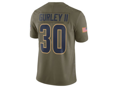 Los Angeles Rams Todd Gurley Nike 2017 NFL Men's Salute To Service Jersey