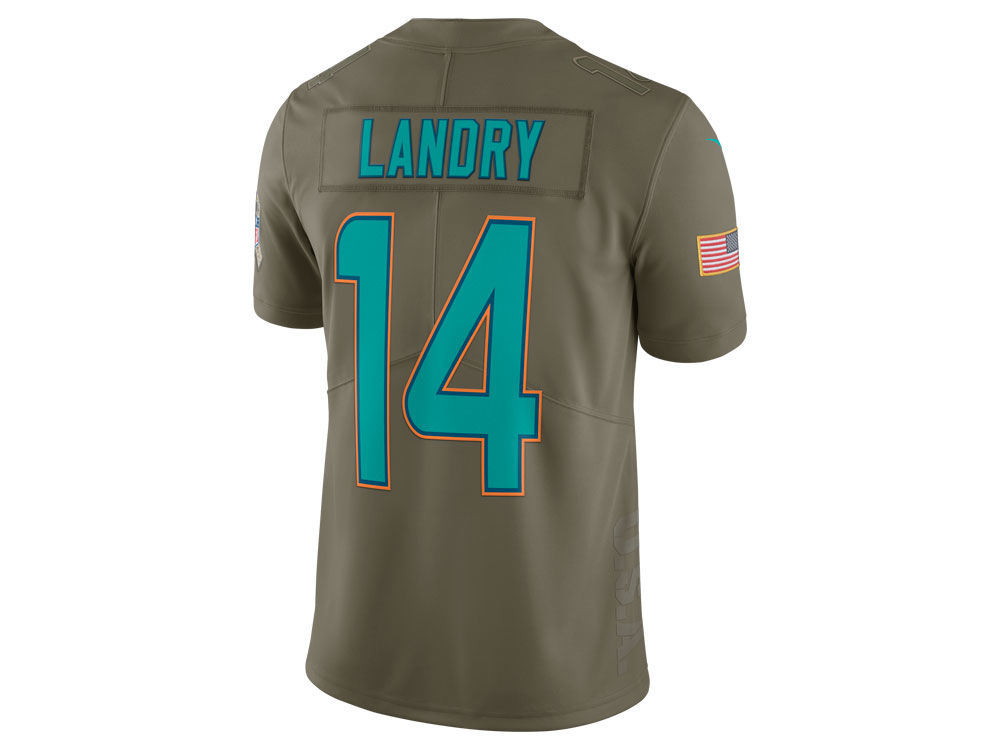 eeddda3ca Miami Dolphins Jarvis Landry Nike 2017 NFL Men s Salute To Service Jersey