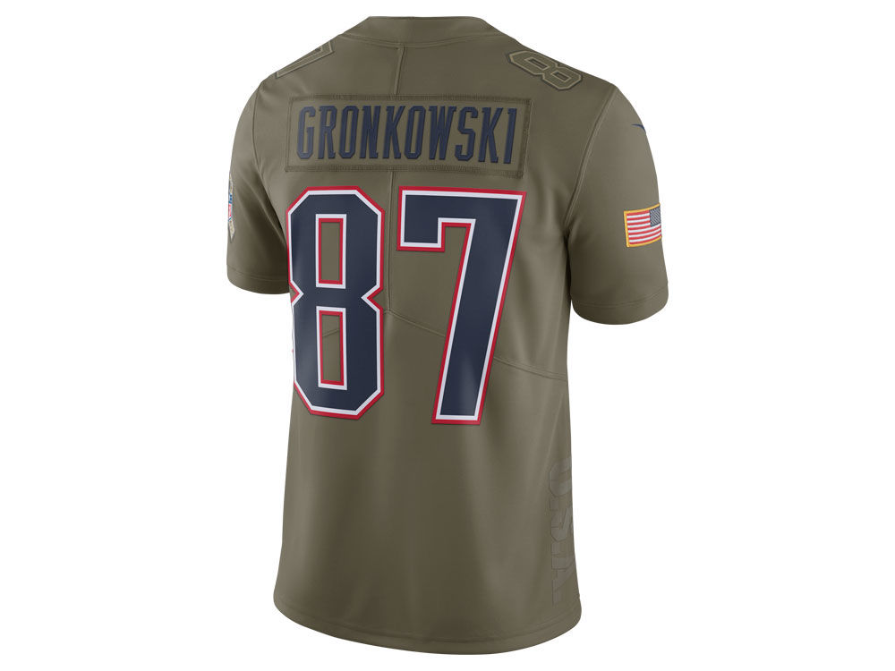 New England Patriots Rob Gronkowski Nike 2017 NFL Men s Salute To Service  Jersey  960278546