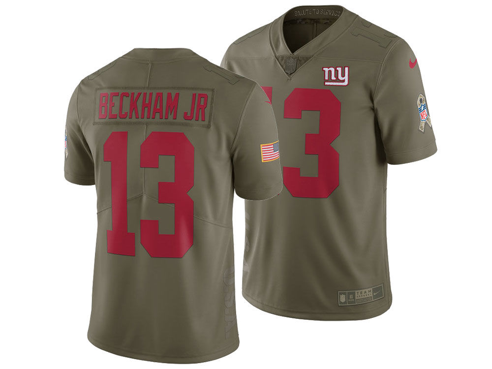 d0e86a032 New York Giants Odell Beckham Jr. Nike 2017 NFL Men s Salute To Service  Jersey
