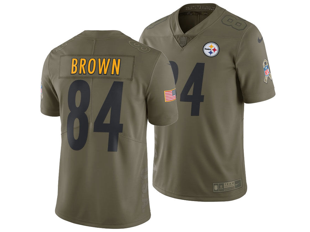 Pittsburgh Steelers Antonio Brown Nike 2017 NFL Men s Salute To Service  Jersey  69b63e43d