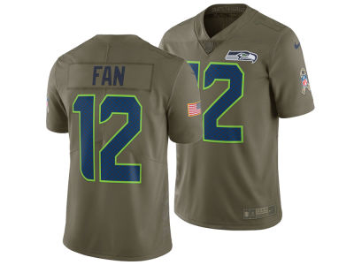 Seattle Seahawks Fan #12 Nike 2017 NFL Men's Salute To Service Jersey