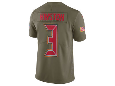 Tampa Bay Buccaneers Jameis Winston Nike 2017 NFL Men's Salute To Service Jersey