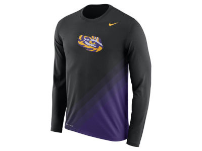 LSU Tigers Nike 2017 NCAA Men's Legend Sideline Long Sleeve T-Shirt