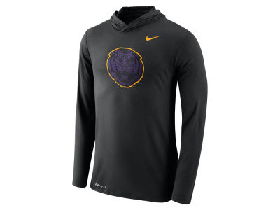 LSU Tigers Nike NCAA Men's Dri-Blend Hooded Long Sleeve T-Shirt