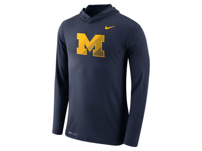 Michigan Wolverines Nike NCAA Men's Dri-Blend Hooded Long Sleeve T-Shirt