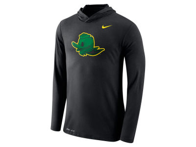 Oregon Ducks Nike NCAA Men's Dri-Blend Hooded Long Sleeve T-Shirt