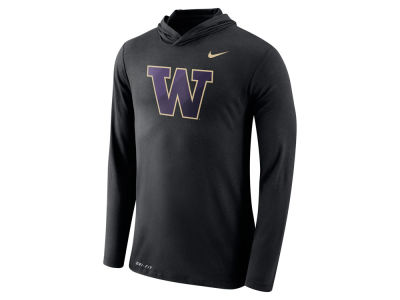 Washington Huskies Nike NCAA Men's Dri-Blend Hooded Long Sleeve T-Shirt