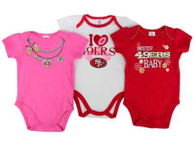 San Francisco 49ers Gerber NFL Newborn Girls 3Pk Bodysuit